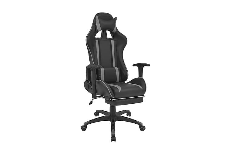 Kontorsstol i sportbilsdesign med fotstöd grå - Grå - Möbler - Stolar - Kontorsstol & skrivbordsstolar