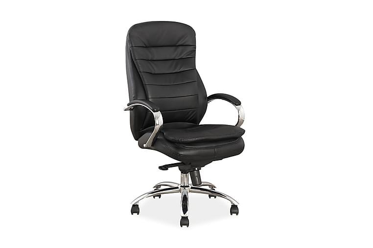 Kontorsstol Wyaconda Ställbar - Konstläder/Svart/Silver - Möbler - Stolar - Kontorsstol & skrivbordsstolar