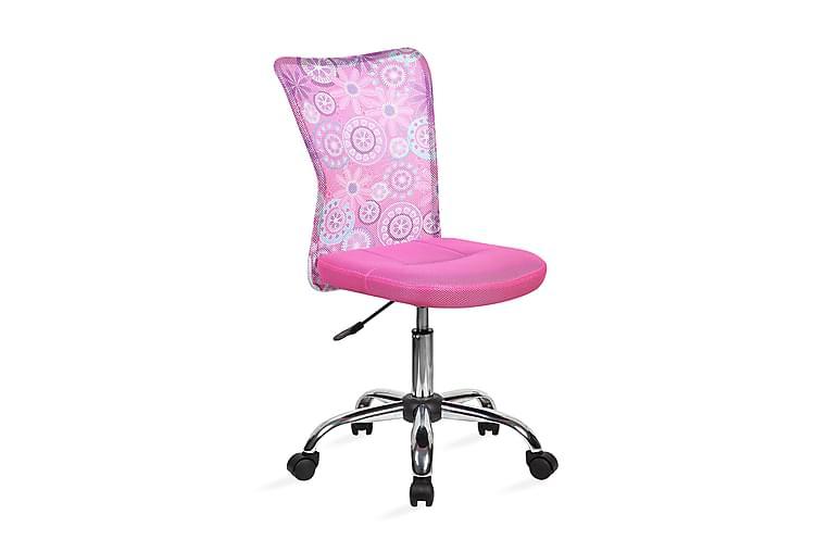 Kontorstol Blossom 40x53xh90-102cm Rosa - Möbler - Stolar - Kontorsstol & skrivbordsstolar