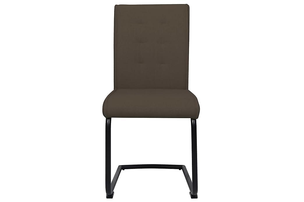 Fribärande matstolar 2 st brun tyg - Brun - Möbler - Stolar - Matstolar & köksstolar