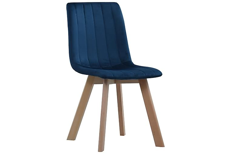 Matstolar 2 st blå sammet - Blå - Möbler - Stolar - Matstolar & köksstolar