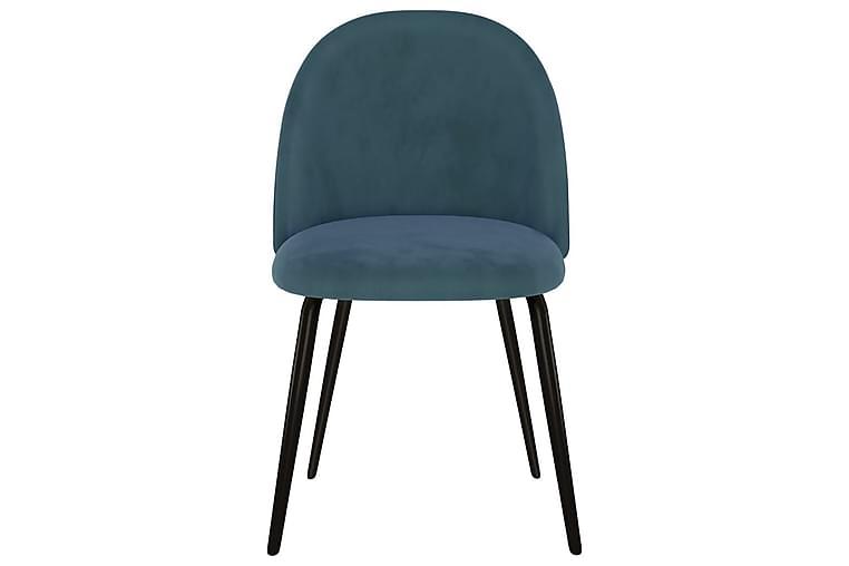 Matstolar 2 st blå tyg - Blå - Möbler - Stolar - Matstolar & köksstolar