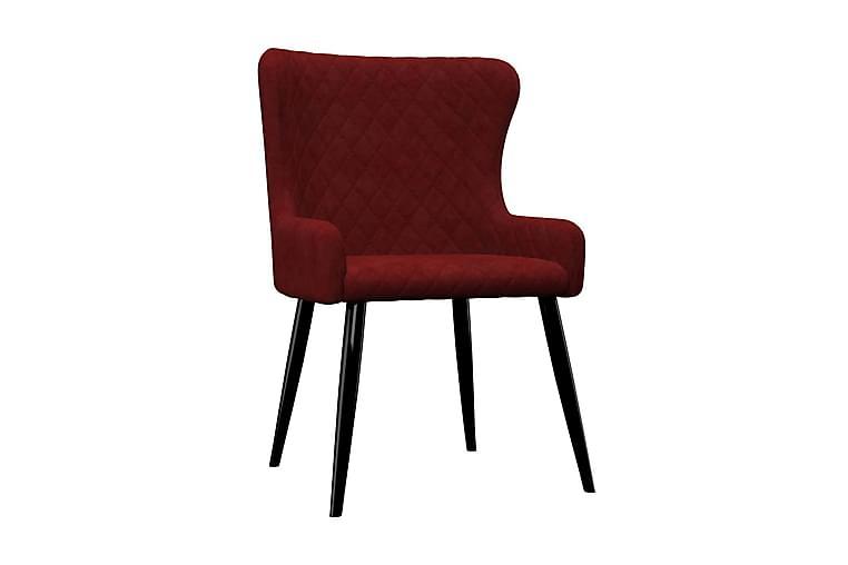 Matstolar 2 st röd sammet - Röd - Möbler - Stolar - Matstolar & köksstolar