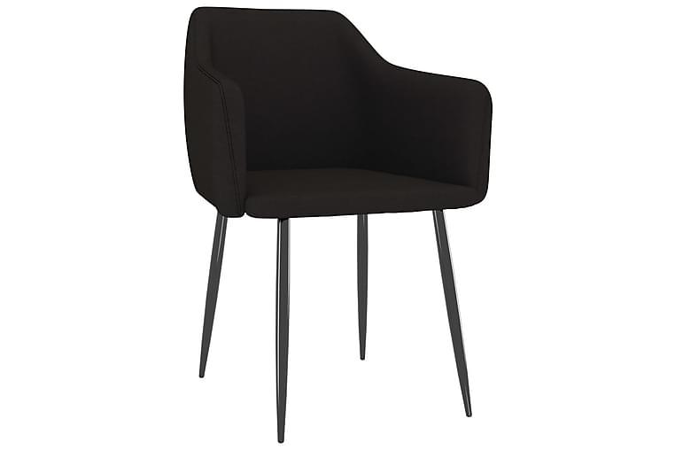 Matstolar 2 st svart tyg - Svart - Möbler - Stolar - Matstolar & köksstolar