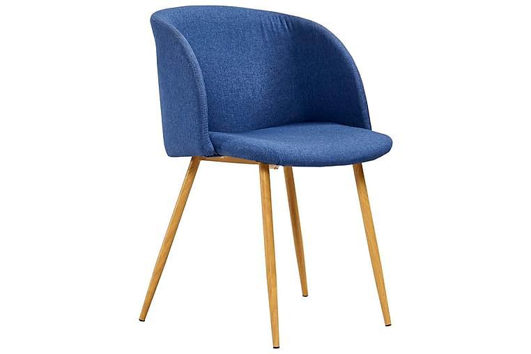 Matstolar 4 st blå tyg - Blå - Möbler - Stolar - Matstolar & köksstolar