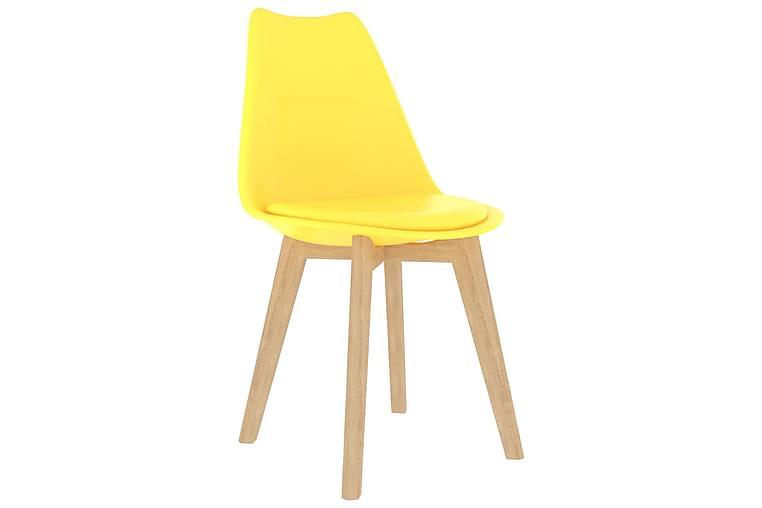 Matstolar 6 st gul plast - Gul - Möbler - Stolar - Matstolar & köksstolar