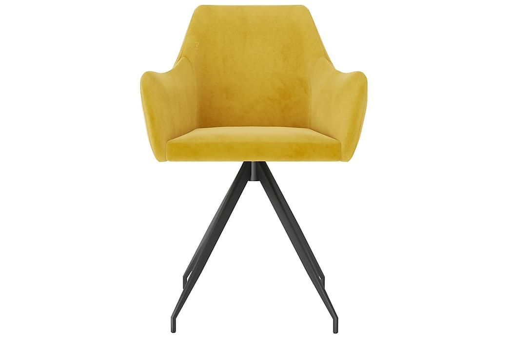Matstolar 6 st gul sammet - Gul - Möbler - Stolar - Matstolar & köksstolar