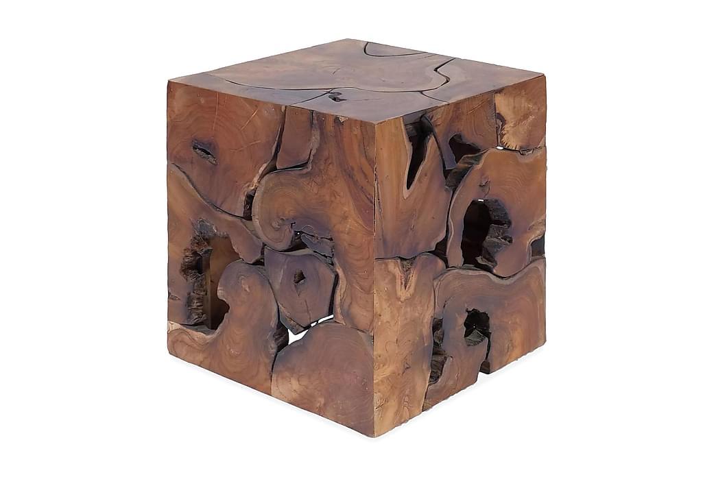 Pall massivt teakträ - Brun - Möbler - Stolar - Pallar