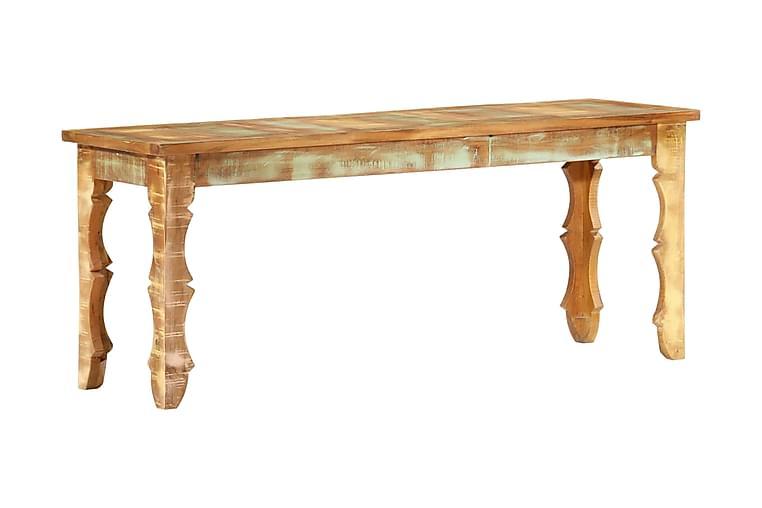 Bänk 110x35x45 cm massivt återvunnet trä - Brun - Inredning - Småmöbler - Sittbänk