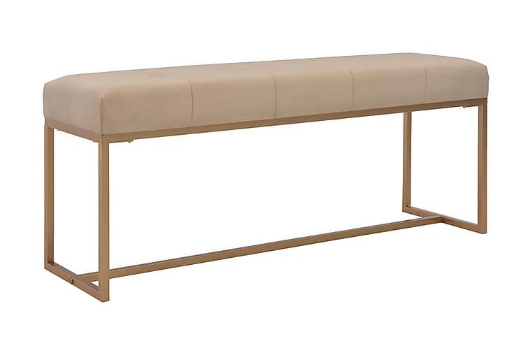 Bänk 120 cm beige sammet - Beige - Inredning - Småmöbler - Sittbänk