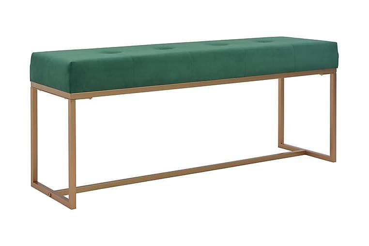 Bänk 120 cm grön sammet - Grön - Inredning - Småmöbler - Sittbänk