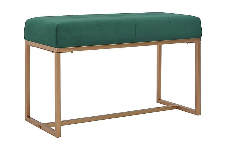 Bänk 80 cm grön sammet - Grön - Inredning - Småmöbler - Sittbänk
