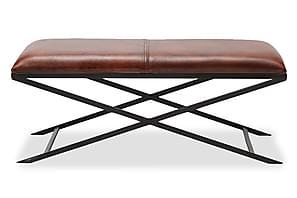 Bänk Emanuel 120 cm Läder