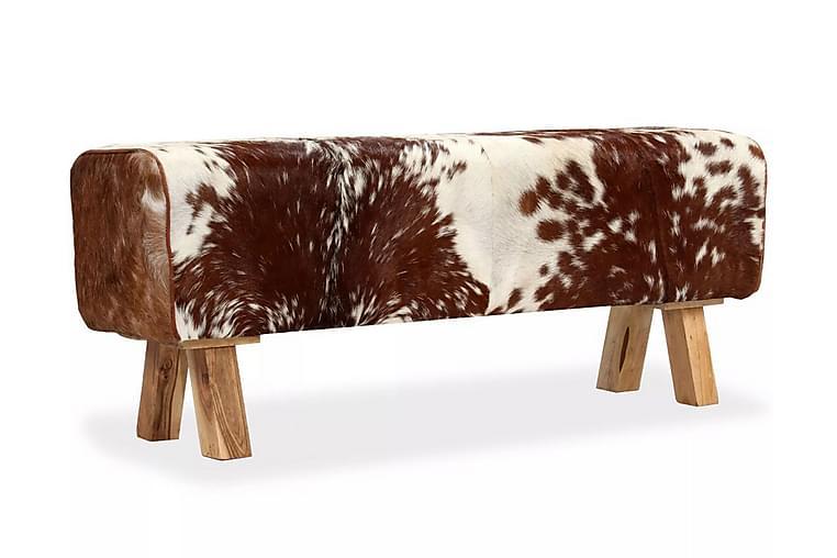Bänk i äkta getskinn 120x30x45 cm - Flerfärgad - Inredning - Småmöbler - Sittbänk