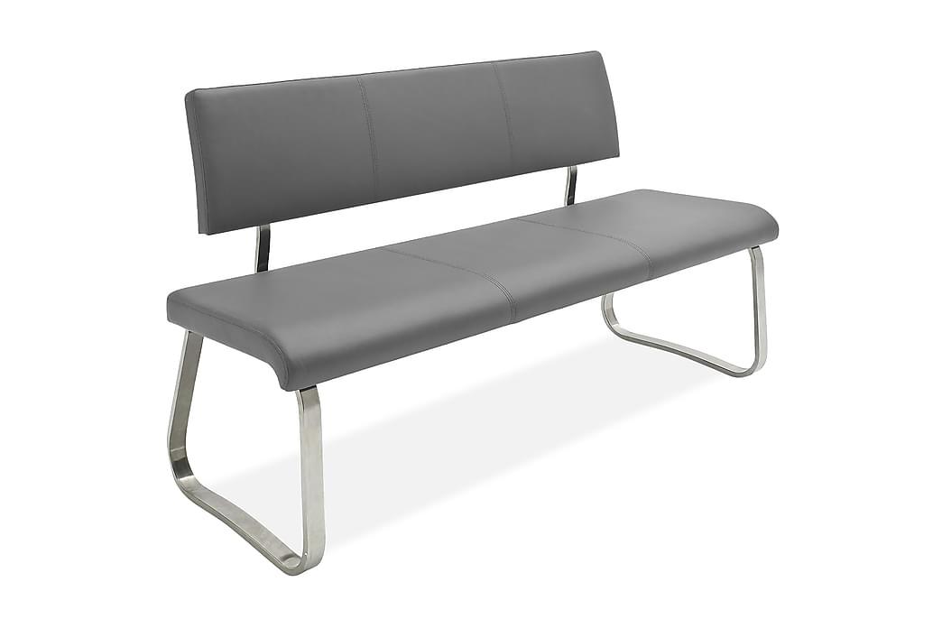 Bänksoffa Arco Grå Läder - Svart Grå - Inredning - Småmöbler - Sittbänk