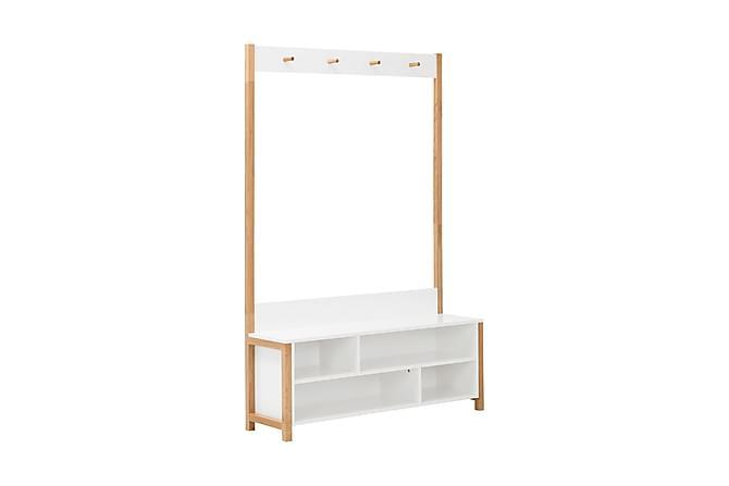 LYNGDAL Sittbänk 120 Vit/Ek - Beige Vit - Möbler - Stolar - Sittbänkar