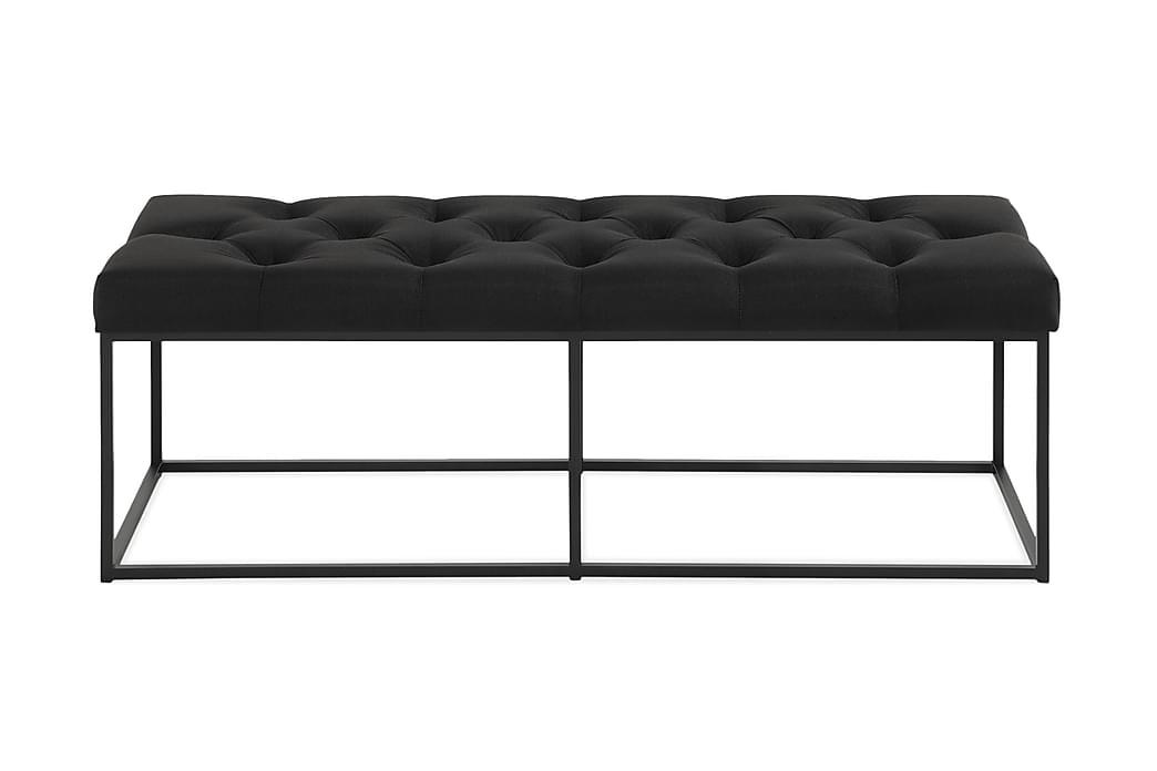 Sittbänk Rebeca 120 cm Djuphäftad - Svart - Inredning - Småmöbler - Sittbänk