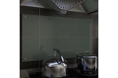 Stänkskydd vit 90x50 cm härdat glas