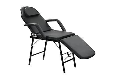 Bärbar behandlingsstol konstläder 185x78x76 cm svart