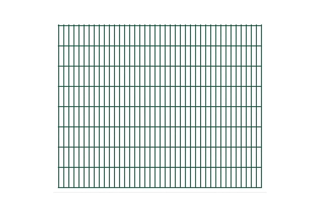 2D Stängselpaneler 2,008x1,63 m grön - Grön - Trädgård - Trädgårdsdekoration & utemiljö - Staket & grindar