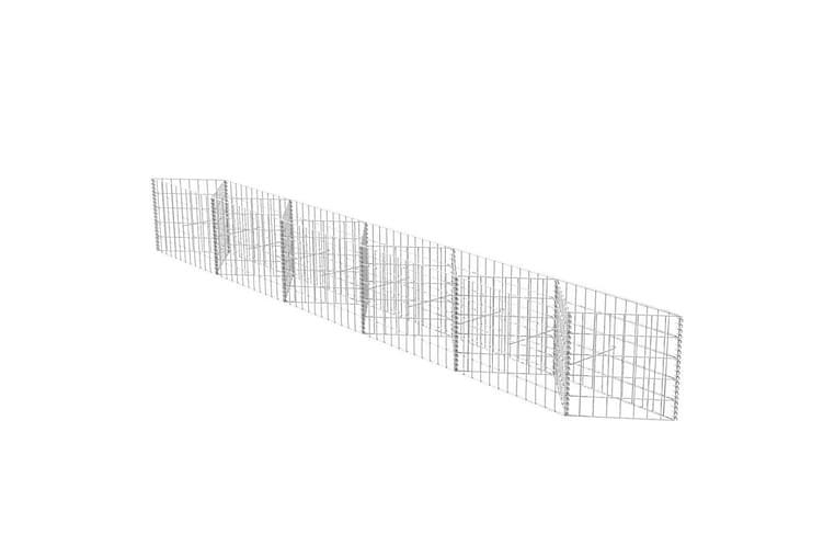 Gabionkorg galvaniserat stål 300x30x50 cm - Silver - Trädgård - Trädgårdsdekoration & utemiljö - Staket & grindar