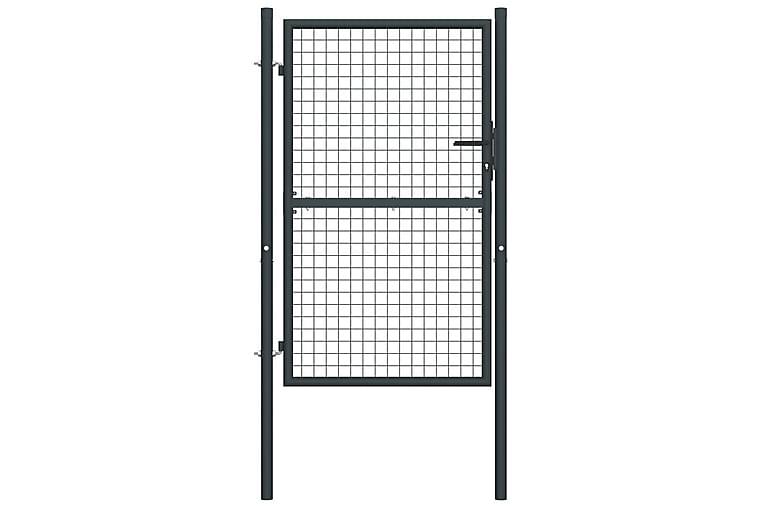 Nätgrind för trädgård galvaniserat stål 100x250 cm grå - Grå - Trädgård - Trädgårdsdekoration & utemiljö - Staket & grindar