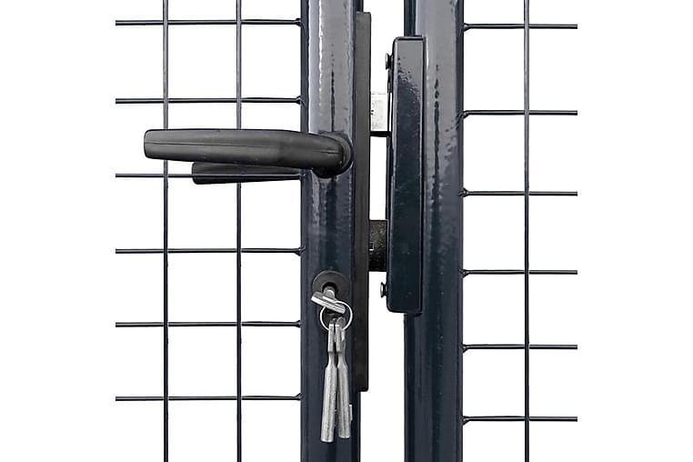 Nätgrind för trädgård galvaniserat stål 400x200 cm grå - Grå - Trädgård - Trädgårdsdekoration & utemiljö - Staket & grindar