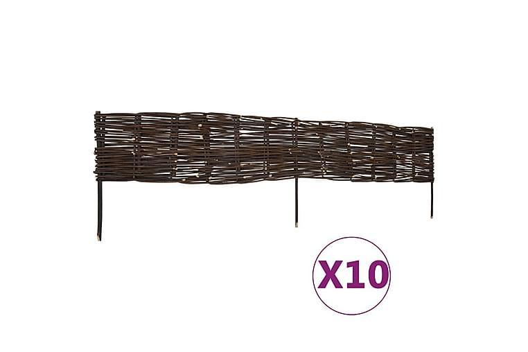 Pilstaket 10 st 120x35 cm - Brun - Trädgård - Trädgårdsdekoration & utemiljö - Staket & grindar