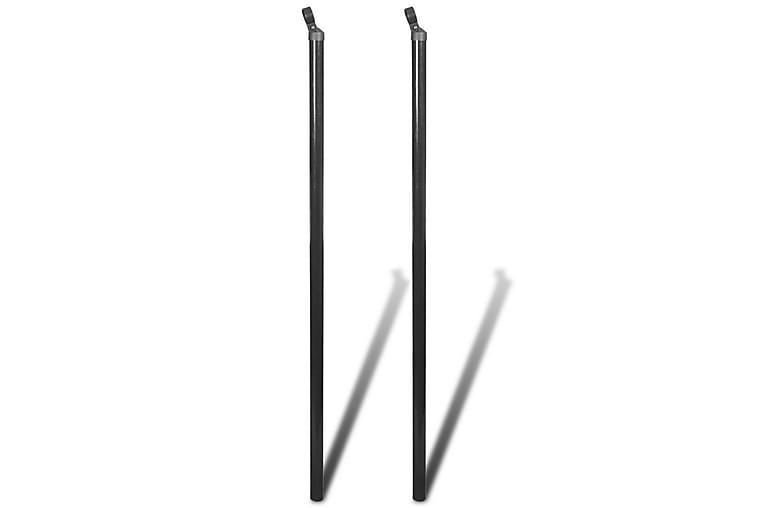 Stag för flätverksstängsel 2 st 170 cm - Grå - Trädgård - Trädgårdsdekoration & utemiljö - Staket & grindar