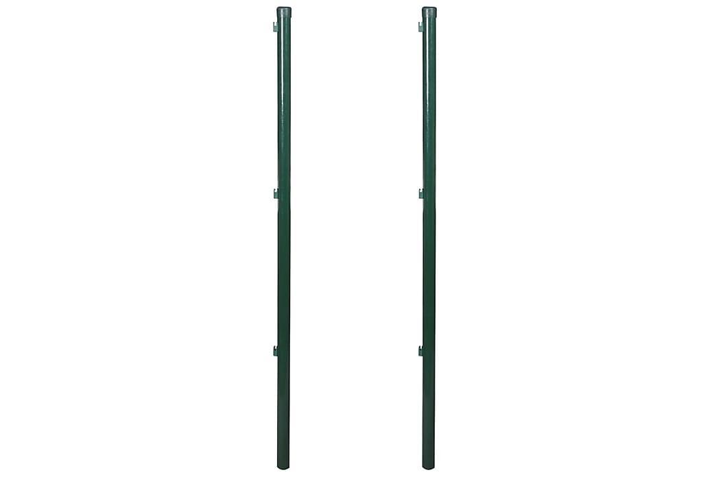 Staketstolpar 2 st 175 cm - Grön - Trädgård - Trädgårdsdekoration & utemiljö - Staket & grindar