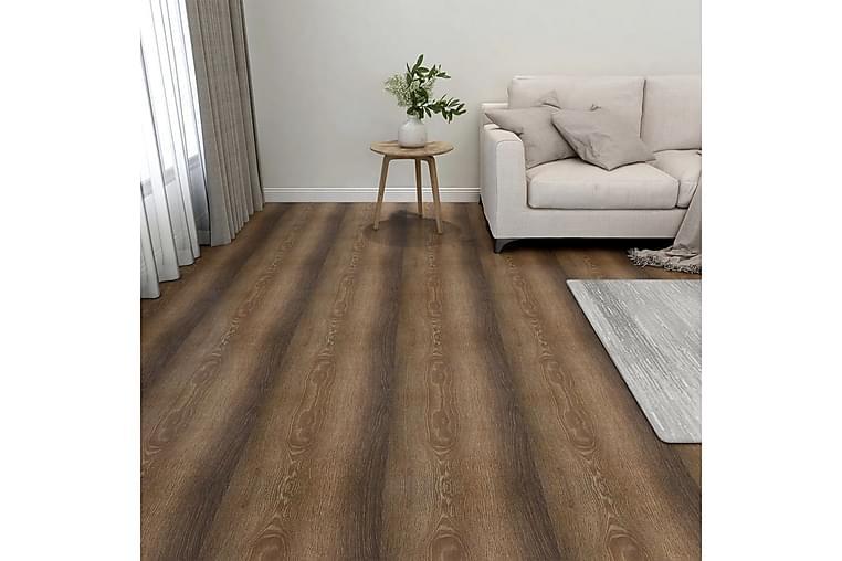 Självhäftande golvplankor 20 st PVC 1,86 m² brun - Brun - Trädgård - Trädgårdsdekoration & utemiljö - Trall