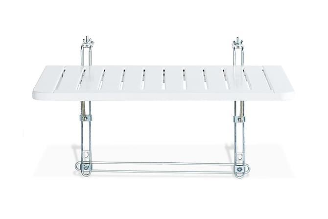 Balkongbord Dalarö 60x52cm - Vitlackerad Akacia - Utemöbler - Balkongmöbler - Balkongbord