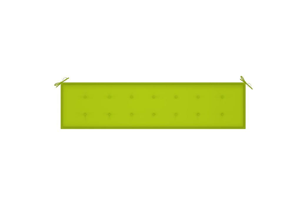 Bänkdyna för trädgården ljusgrön 200x50x4 cm tyg - Grön - Utemöbler - Dynor - Soffdynor & bänkdynor