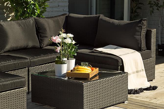 Hörnmodul Priamo 2 st - Svart - Utemöbler - Loungemöbler - Loungesoffor