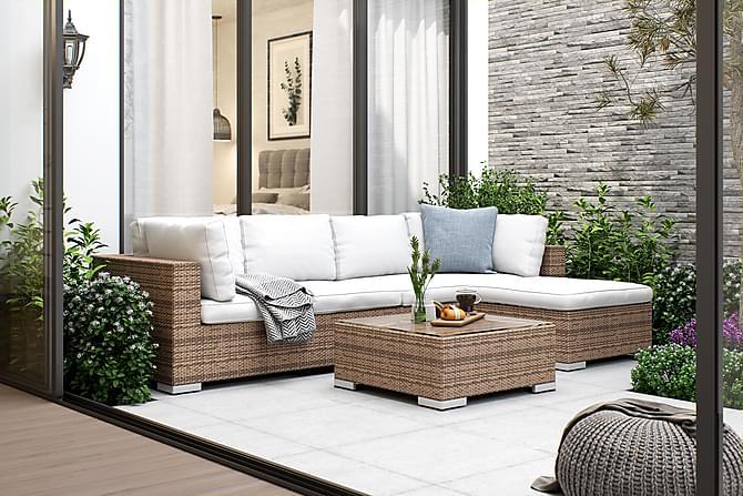 Loungegrupp Bahamas 4-sits 2 Divan/Bord - Sand - Utemöbler - Loungemöbler - Loungegrupper