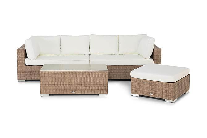 Loungegrupp Bahamas 6-sits 2 Divan/Bord - Sand - Utemöbler - Loungemöbler - Loungegrupper