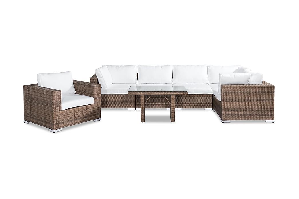 Loungegrupp Bahamas 6-sits - Sand Bord Fåtölj - Utemöbler - Loungemöbler - Loungegrupper