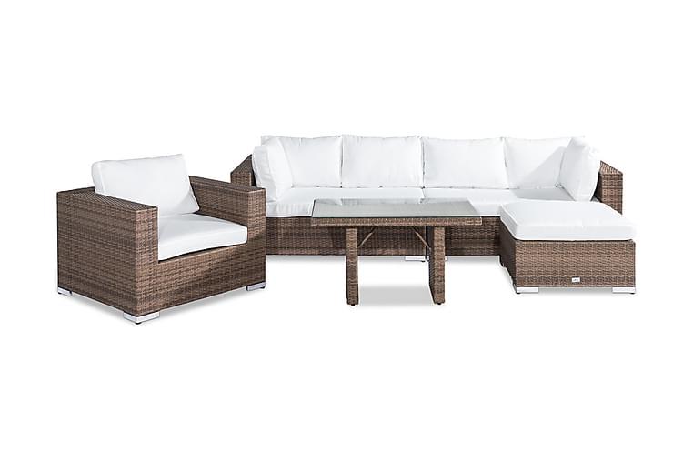 Loungegrupp Bahamas 6-sits - Sand Bord Fåtölj Divan - Utemöbler - Loungemöbler - Loungegrupper