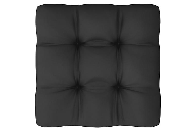 Loungegrupp med dynor 10 delar vit massiv furu - Vit - Utemöbler - Loungemöbler - Loungegrupper