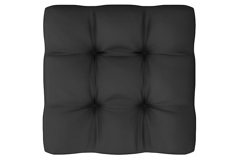 Loungegrupp med dynor 11 delar vit massiv furu - Vit - Utemöbler - Loungemöbler - Loungegrupper