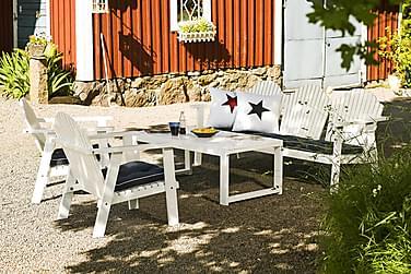 Soffgrupp Hillerstorp Gotland Bord+Bullerö Soffa+2 Fåtöljer