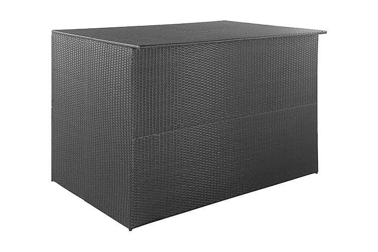 Dynbox 150x100x100 konstrotting svart - Svart - Utemöbler - Dynboxar & möbelskydd - Dynboxar & dynlådor