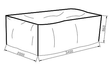 Möbelskydd Karibib 200x86x340