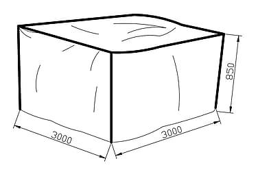 Möbelskydd Karibib 300x85x300