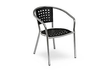 Stol Stapelfeld Svart/Aluminium