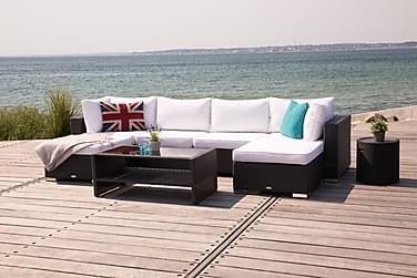 Loungegrupp Bahamas 6-sits Bord m Hylla