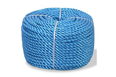 Tvinnat rep i polypropylen 10 mm 100 m blå