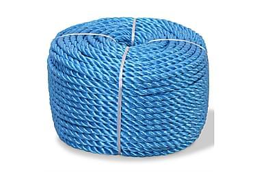 Tvinnat rep i polypropylen 12 mm 250 m blå