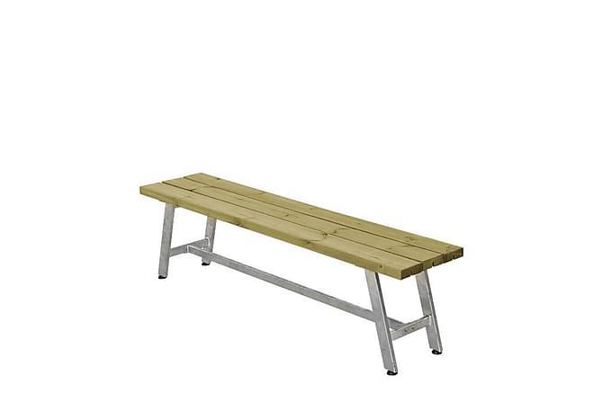 Royal bänk - längd 177 cm - Grå Beige - Utemöbler - Välj efter material - Trä & teak