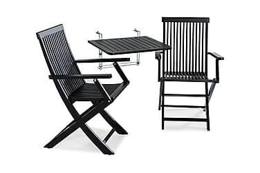 Balkongbord Dalarö 60x52x52 + 2 Klappstolar med Armstöd